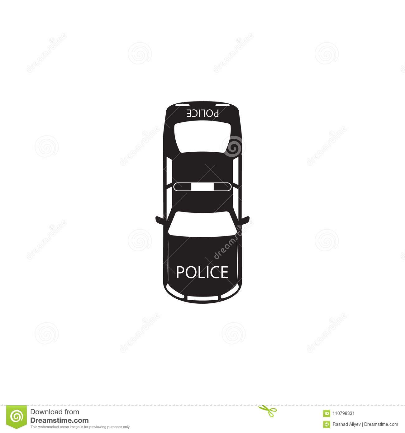 Police Car Icon Element Of Transport View From Above Icon One Of
