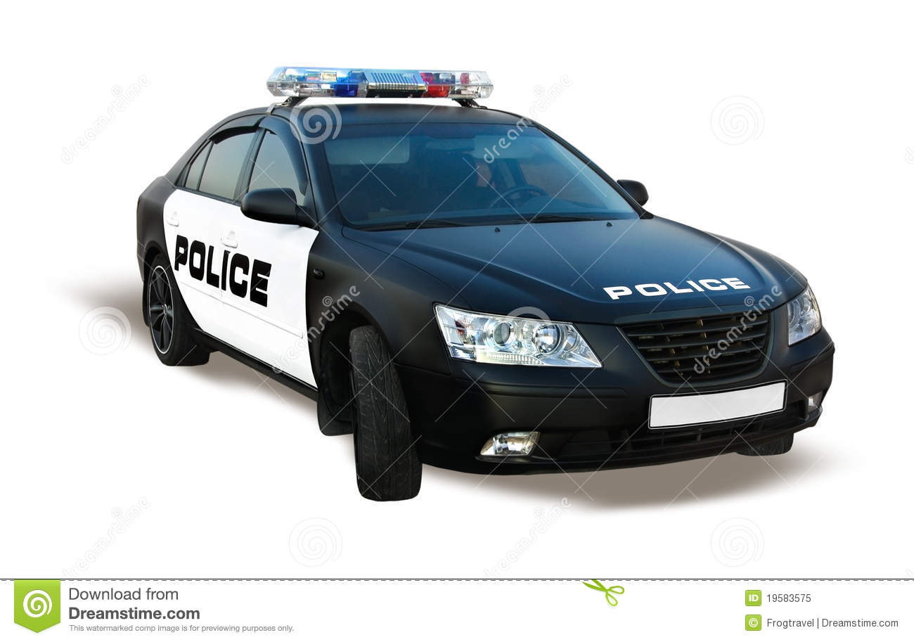 Police Car Isolated Royalty Free Stock Photo Image 19583575