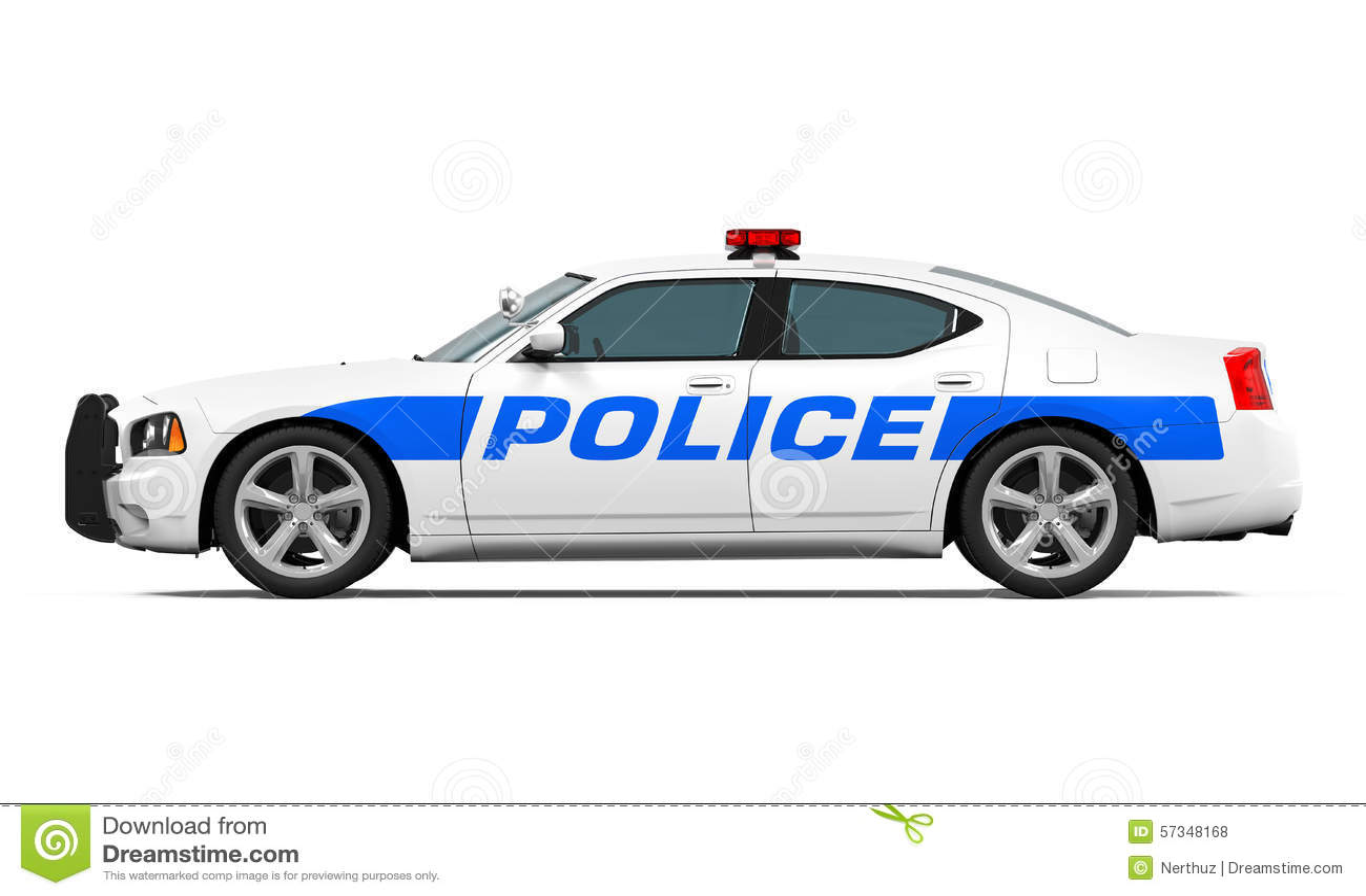 Police Car Isolated Stock Photo - Image: 57348168
