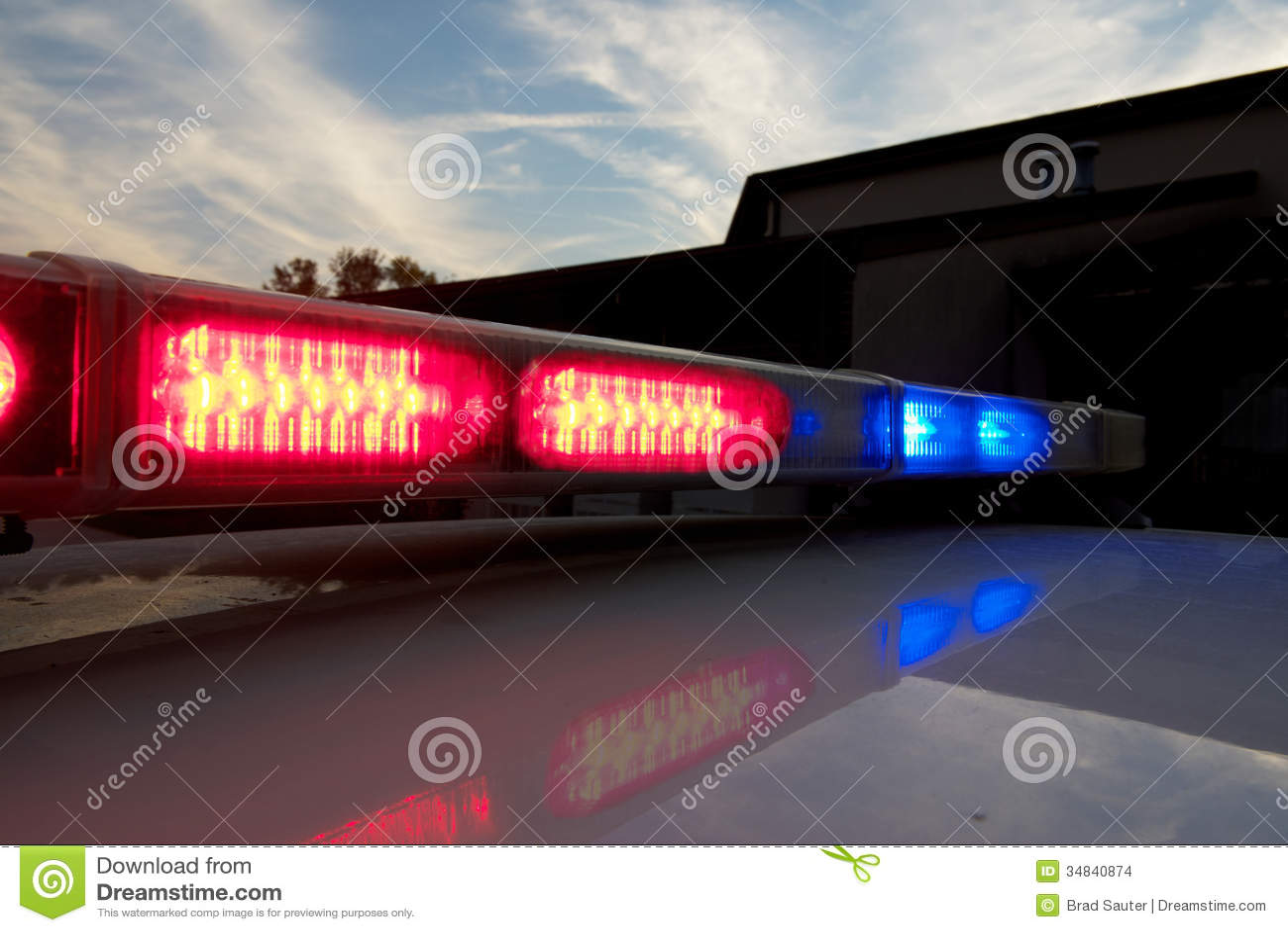 Police car light bar stock photo image of strobe blue 34840874 police car light bar aloadofball Gallery