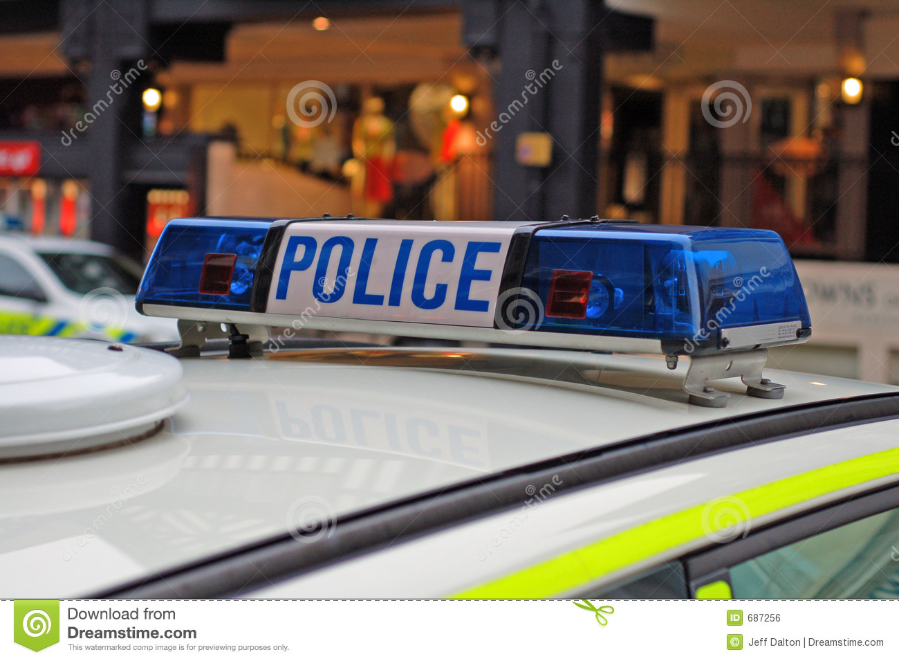 Police Car Lights Royalty Free Stock Image Image 687256