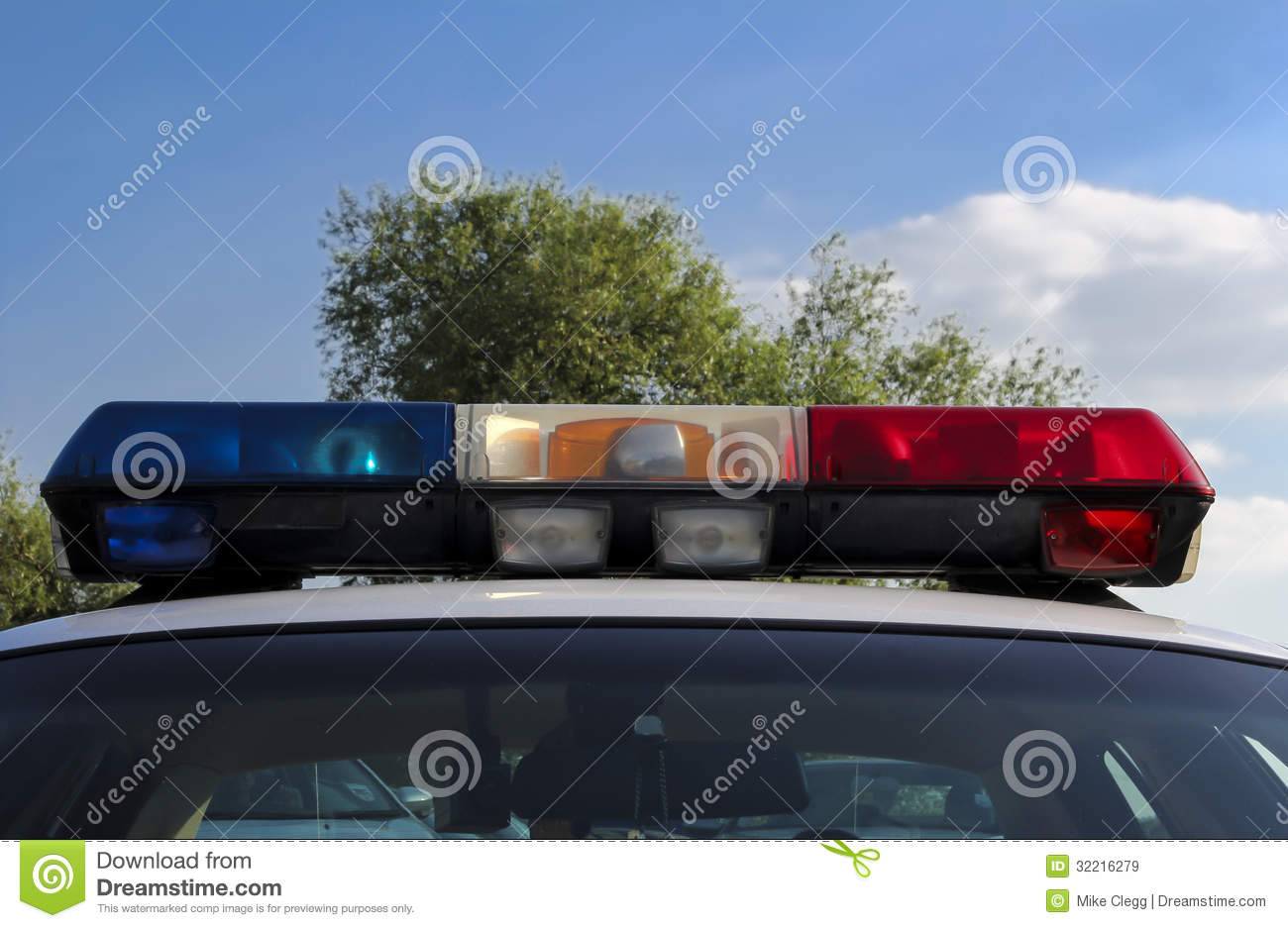 Police Car Lights Royalty Free Stock Images Image 32216279