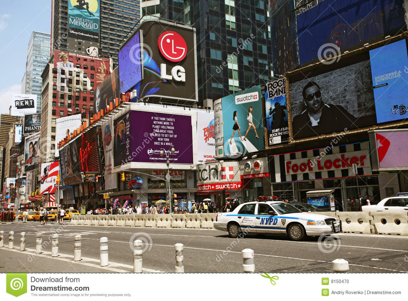 Police car on New York Times Square