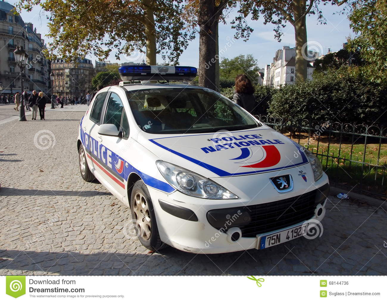 france police car cartoon vector 92064451. Black Bedroom Furniture Sets. Home Design Ideas