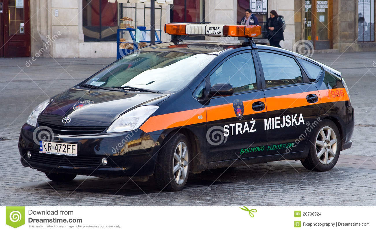Balice Poland  city photos gallery : Police Car In Poland Editorial Stock Image Image: 20798924
