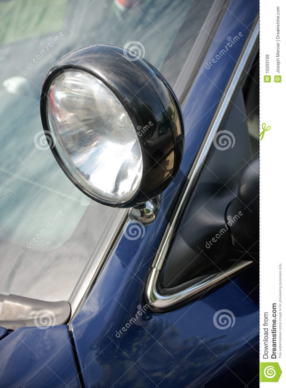 Police Car Searchlight Royalty Free Stock Image Image 10203106