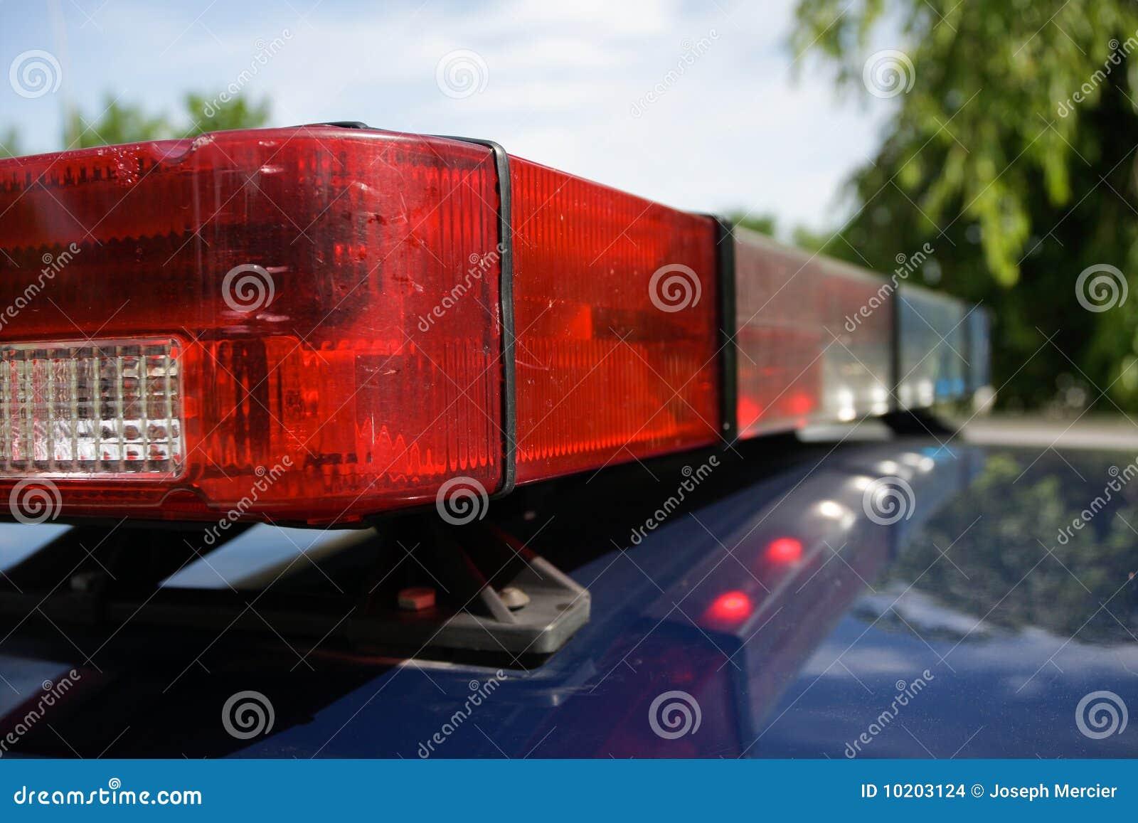 Police Car Strobe Lights stock photo  Image of enforcement - 10203124