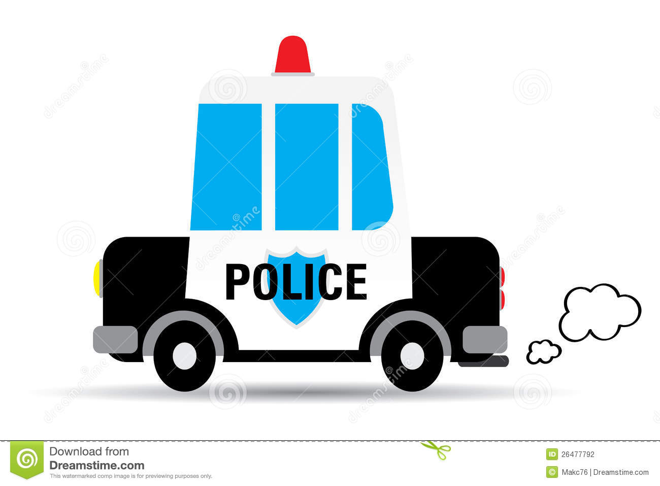 Police Car Vector Illustration Stock Photography - Image: 26477792