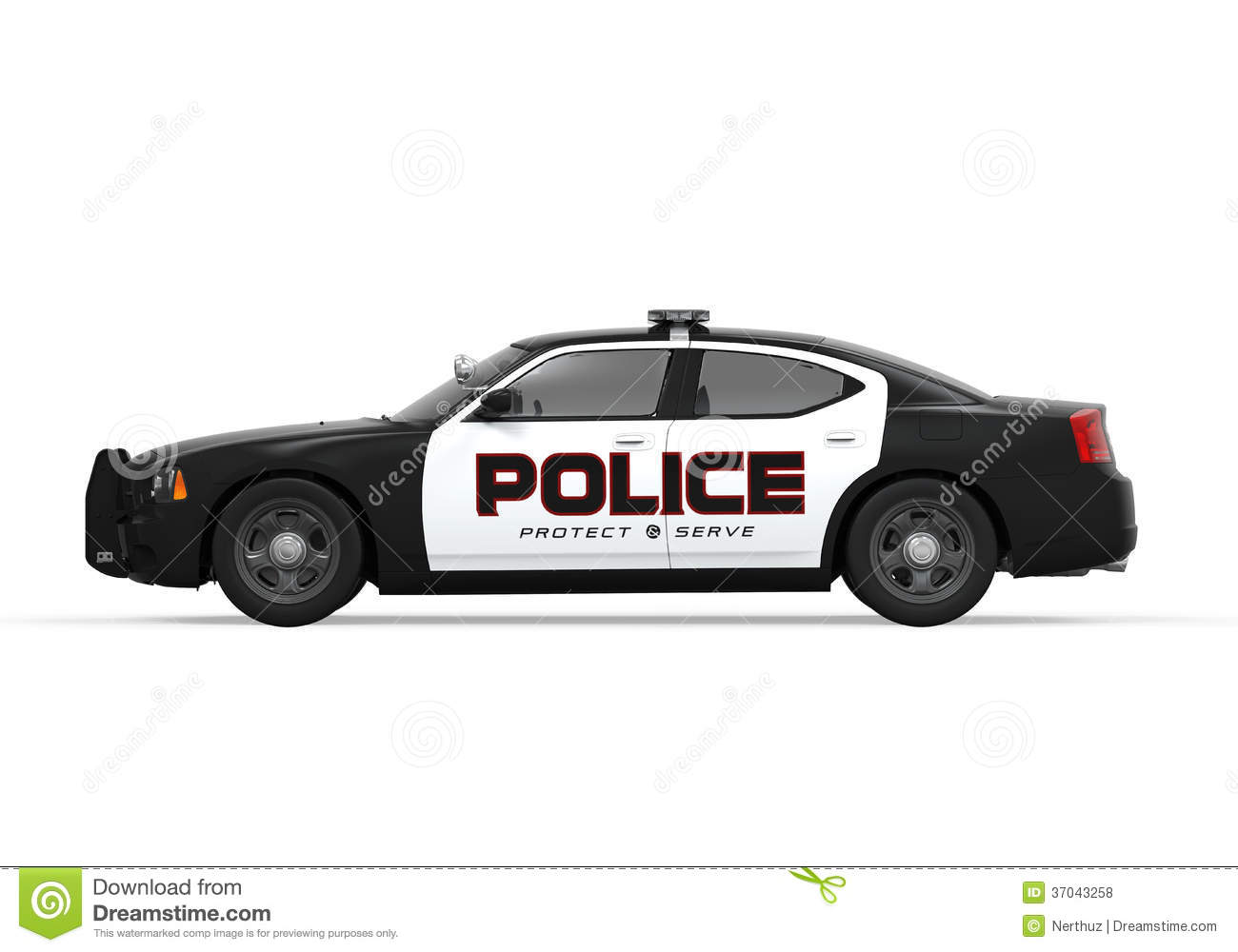 Police Car Stock Illustration Image Of Emergency Protection