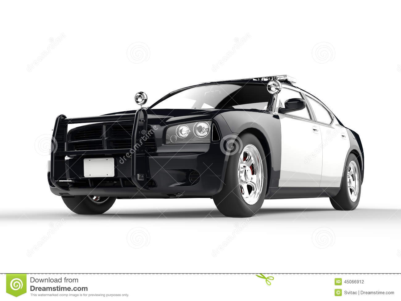 Car decals and graphics design - Police Car Without Decals On White Background Image Shot In Ultra