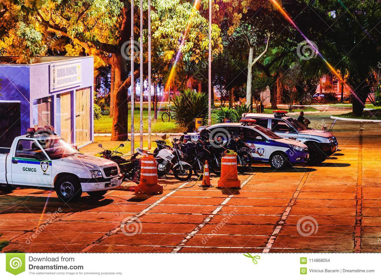 Police Cars Of Guarda Municipal At And Event In Campo Grande Ms