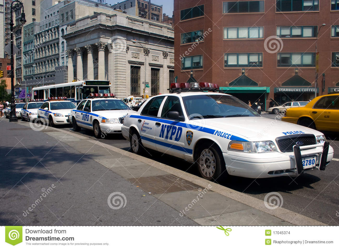 police cars in new york city editorial stock image image 17045374. Black Bedroom Furniture Sets. Home Design Ideas
