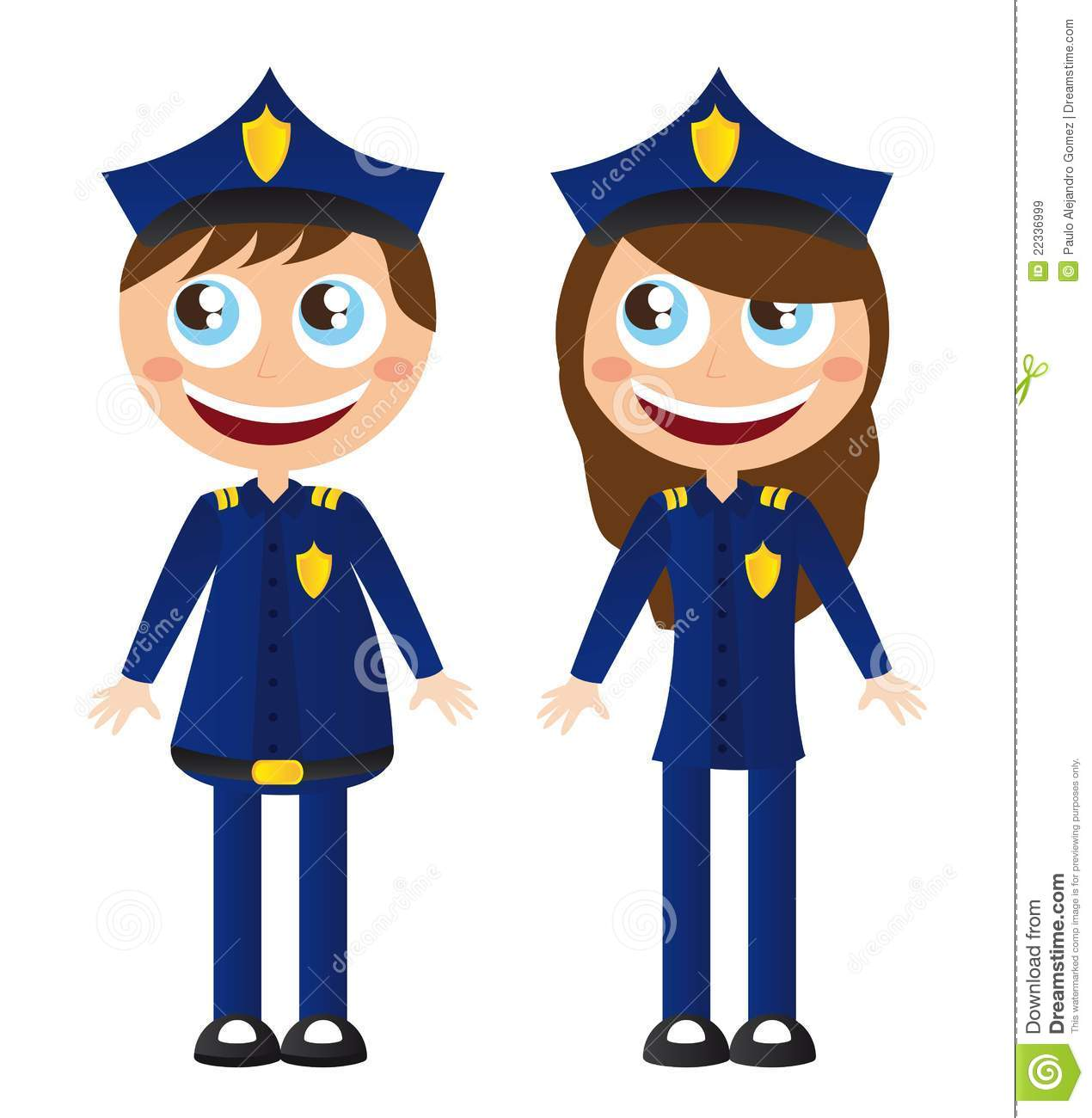 Police Cartoons Royalty Free Stock Images - Image: 22336999