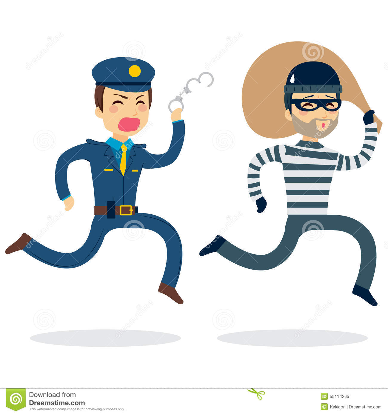 police chasing thief stock vector image 55114265 policeman clipart with stop sign policeman clip art silhouette