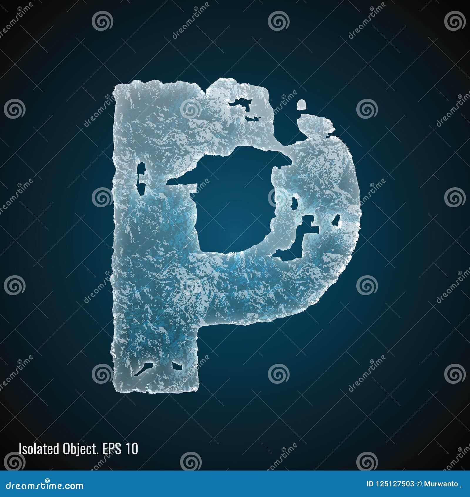Police de glace de la lettre P