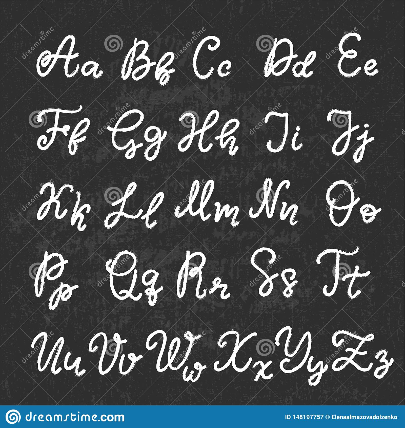 Police de inscription tir?e par la main, alphabet