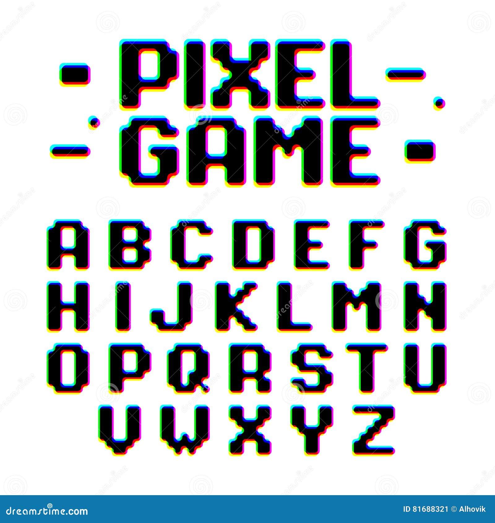 Police de style de jeu de pixel rétro