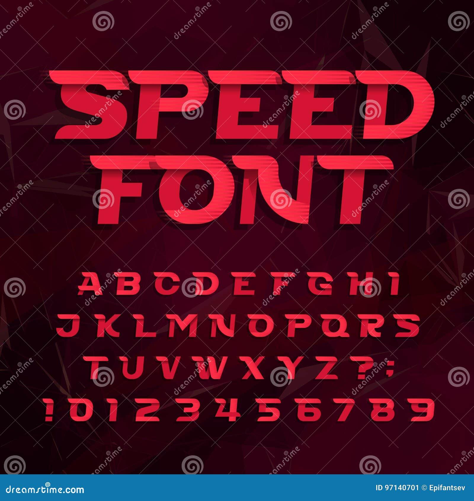 Police de vecteur futuriste d alphabet Expédiez le type lettres et nombres d effet sur un fond abstrait