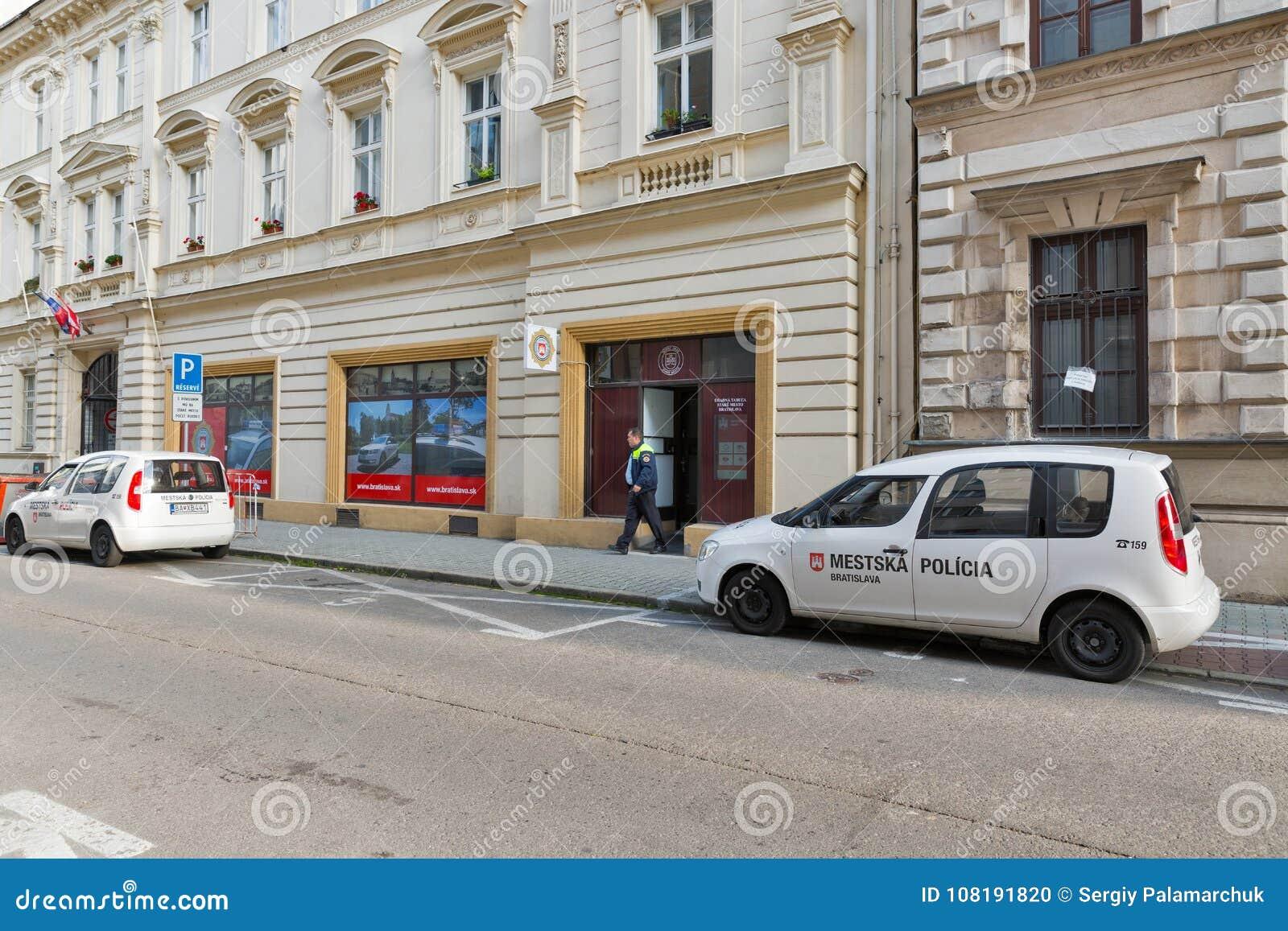 Police Department In Bratislava, Slovakia  Editorial Image
