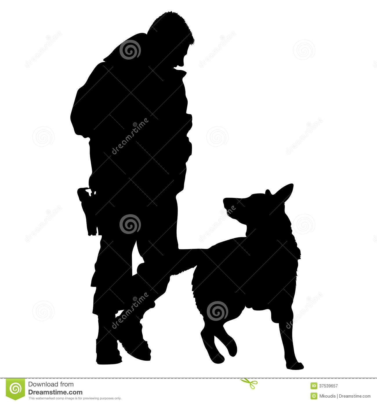 Police Dog Silhouette 5 Royalty Free Stock Photography
