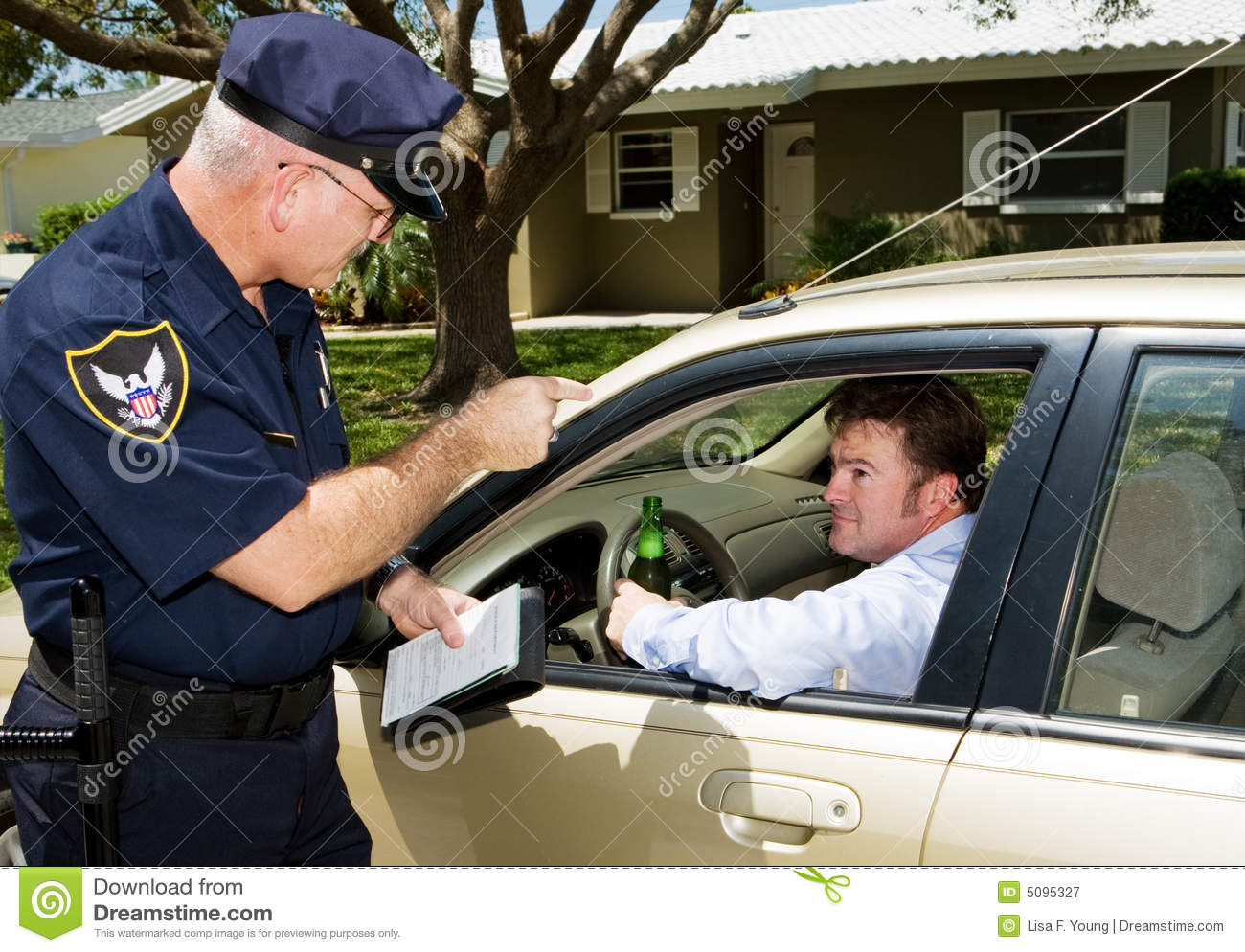 Police - Drunk Driving Royalty Free Stock Photography - Image: 5095327