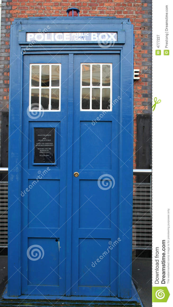 Police Emergency Call Box, Or 'Tardis'  Stock Image - Image of time
