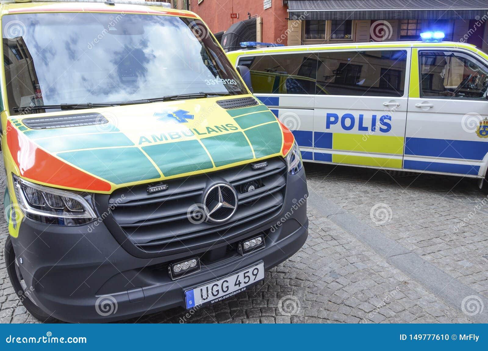 Police et services médicaux, Stockholm, Suède