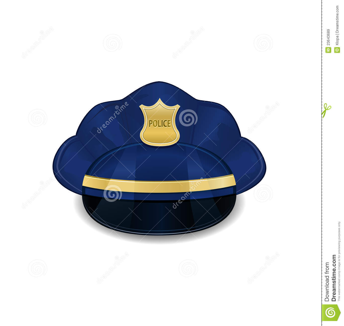 police hat icon stock vector illustration of icon head 23643689