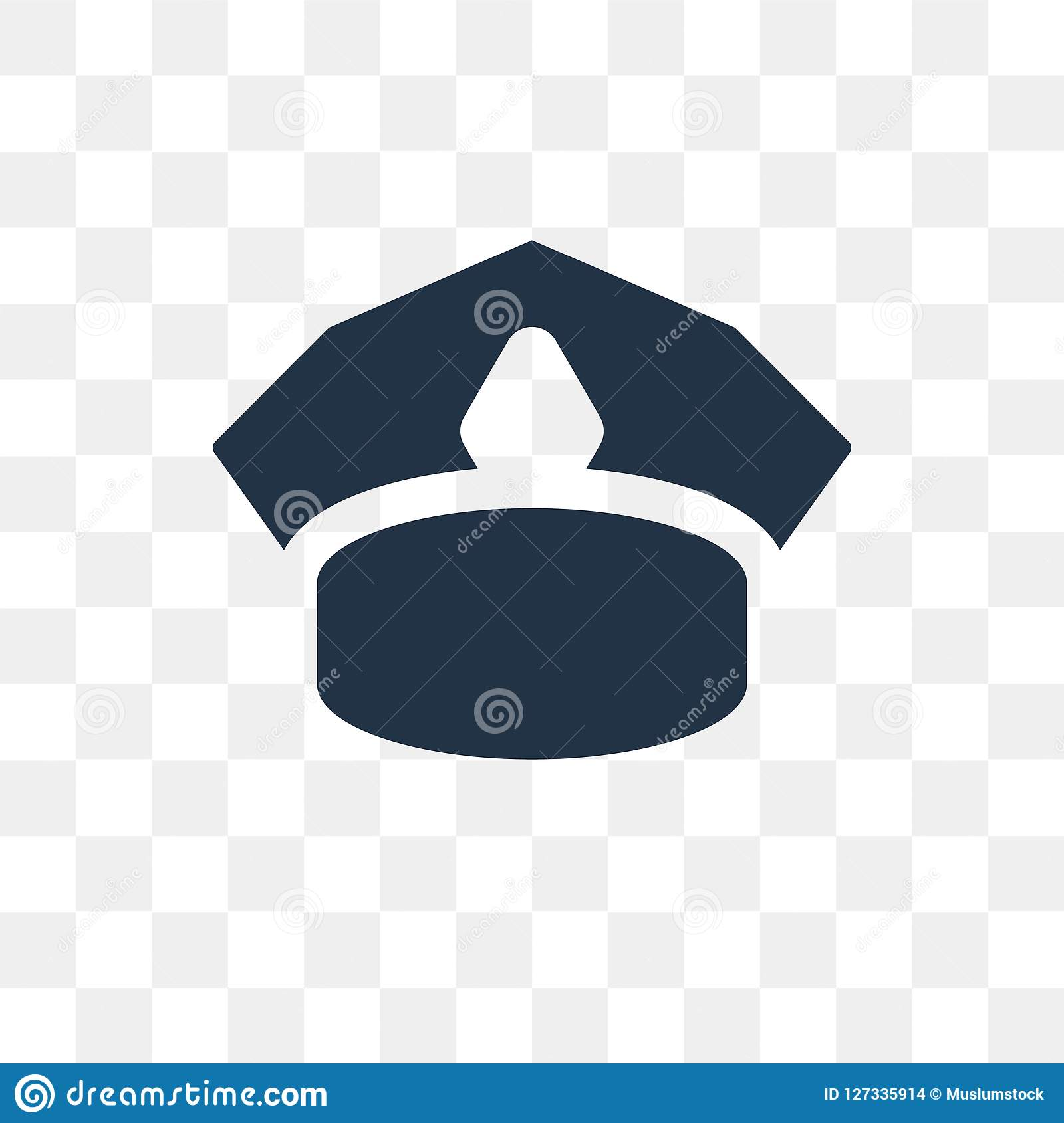 76f7a03e36f Police Hat Vector Icon Isolated On Transparent Background