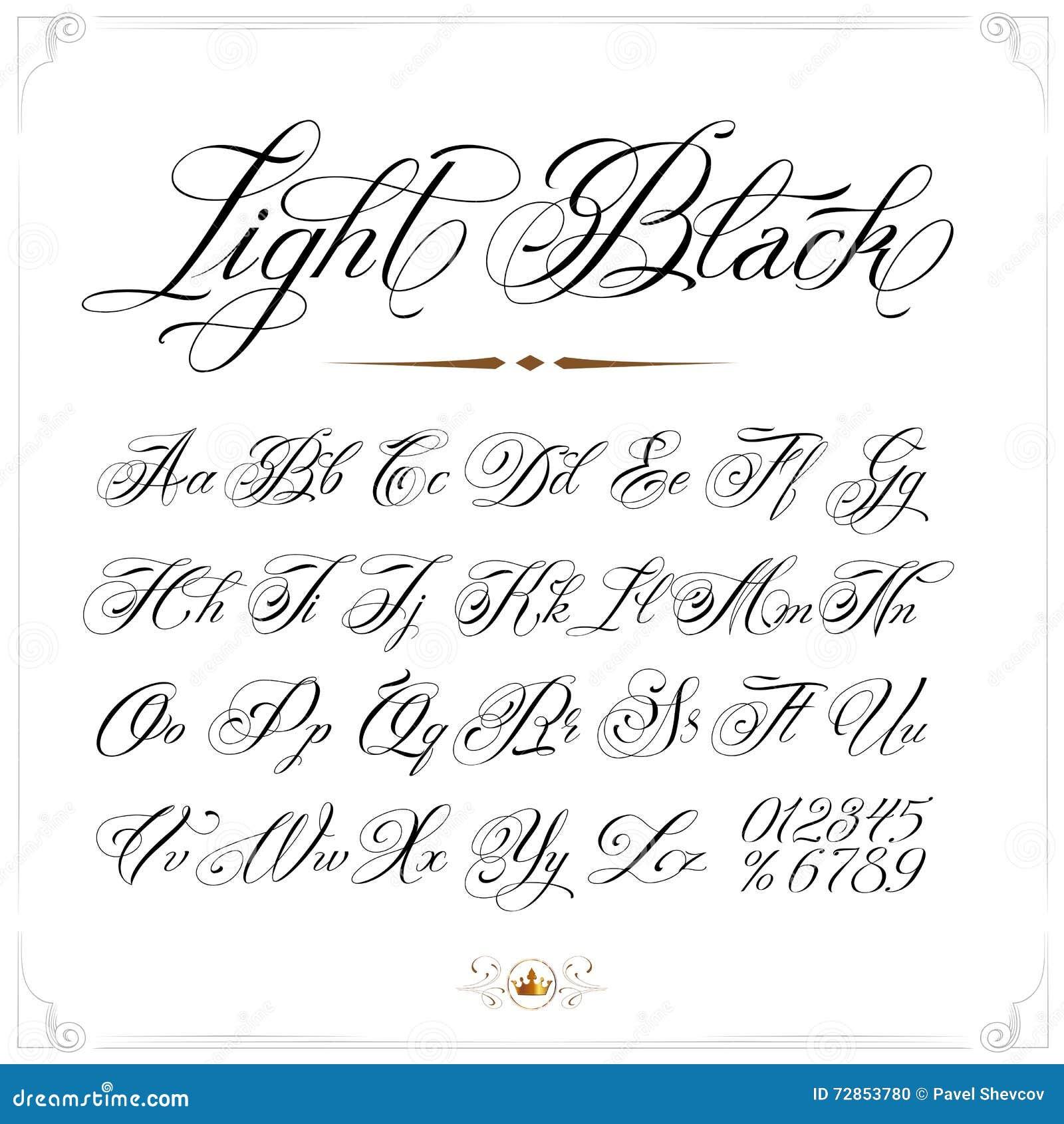 Police l g re de tatouage illustration de vecteur image du capital 72853780 - Police ecriture tatouage ...
