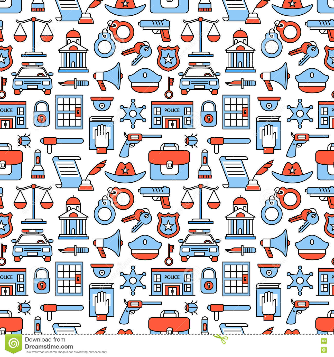 police and law enforcement icons stock vector image 81692421