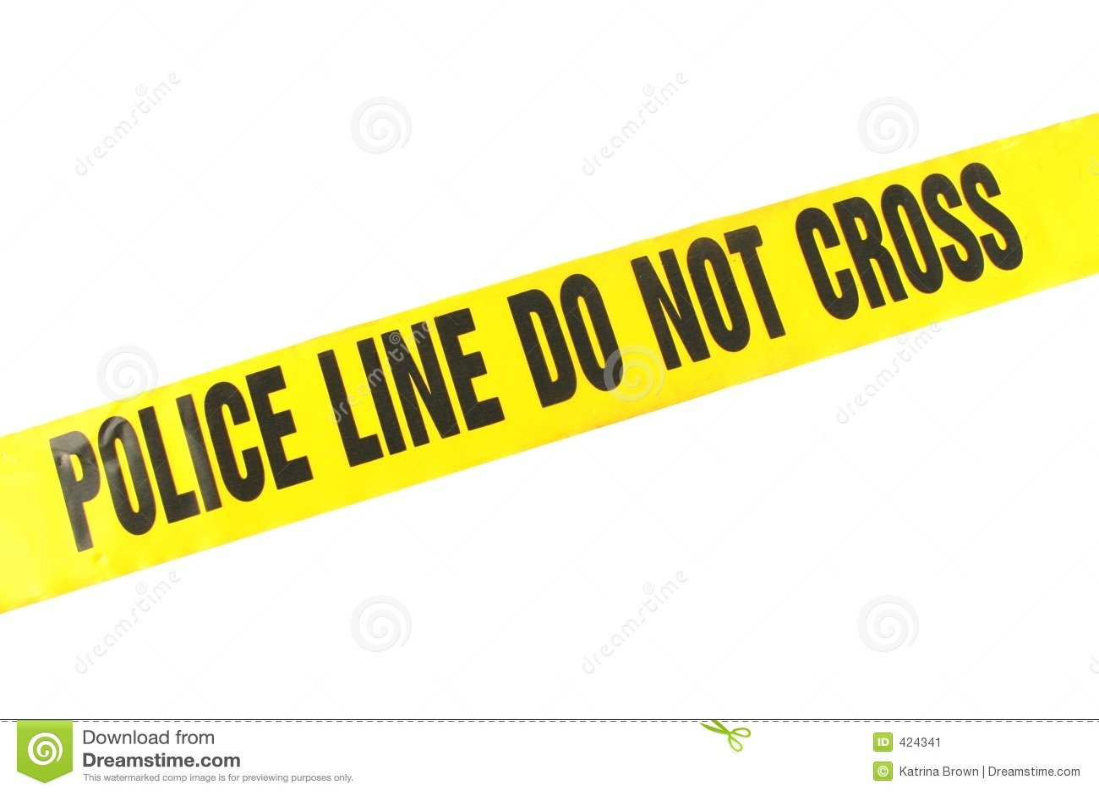 Police line crime tape stock image image 424341