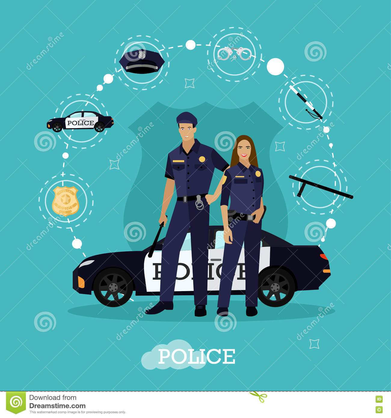 vector set of police objects and equipment isolated on police station clipart images indian police station clipart
