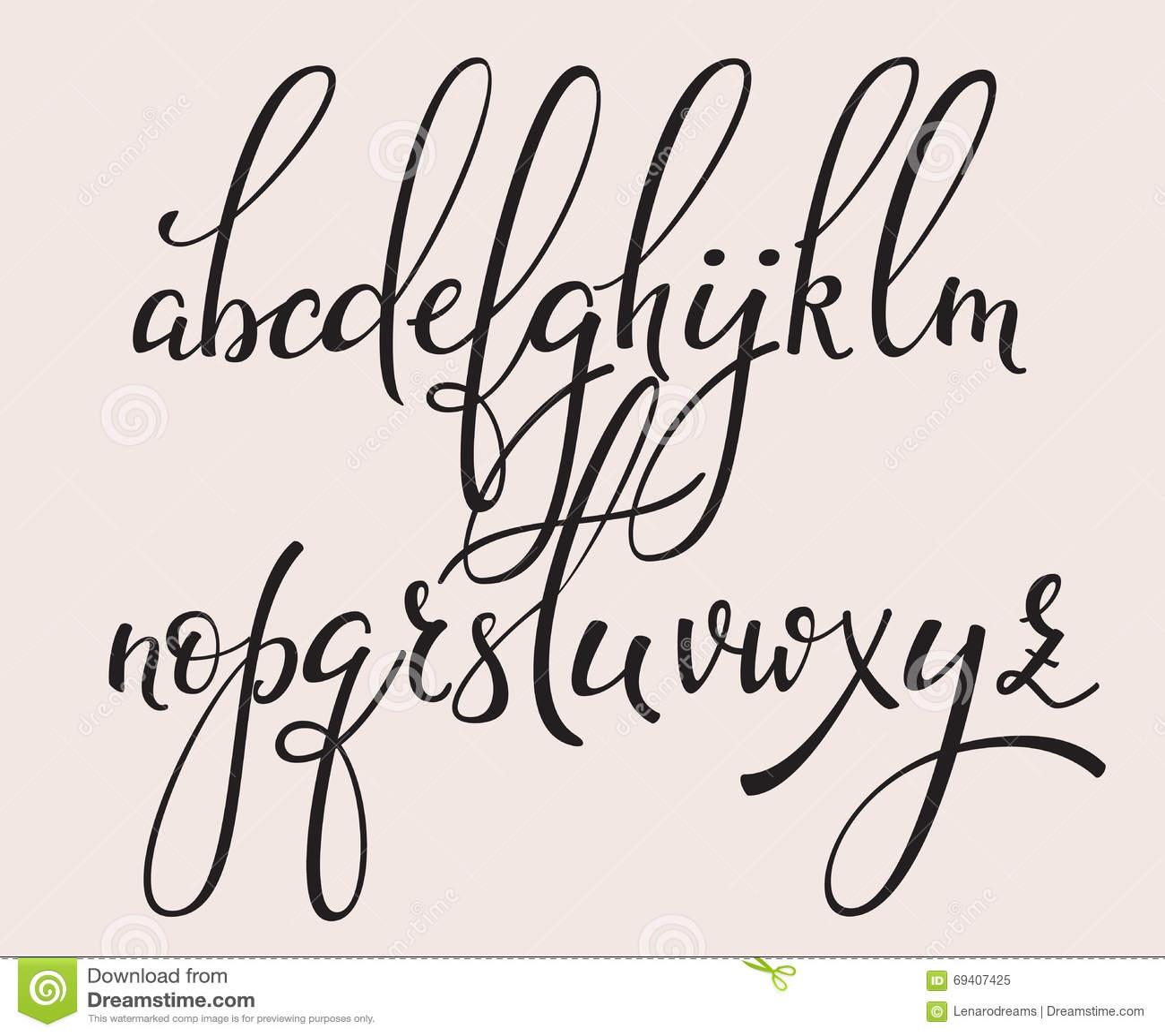 Top Police Manuscrite De Cursive De Calligraphie De Style De Brosse  GS77