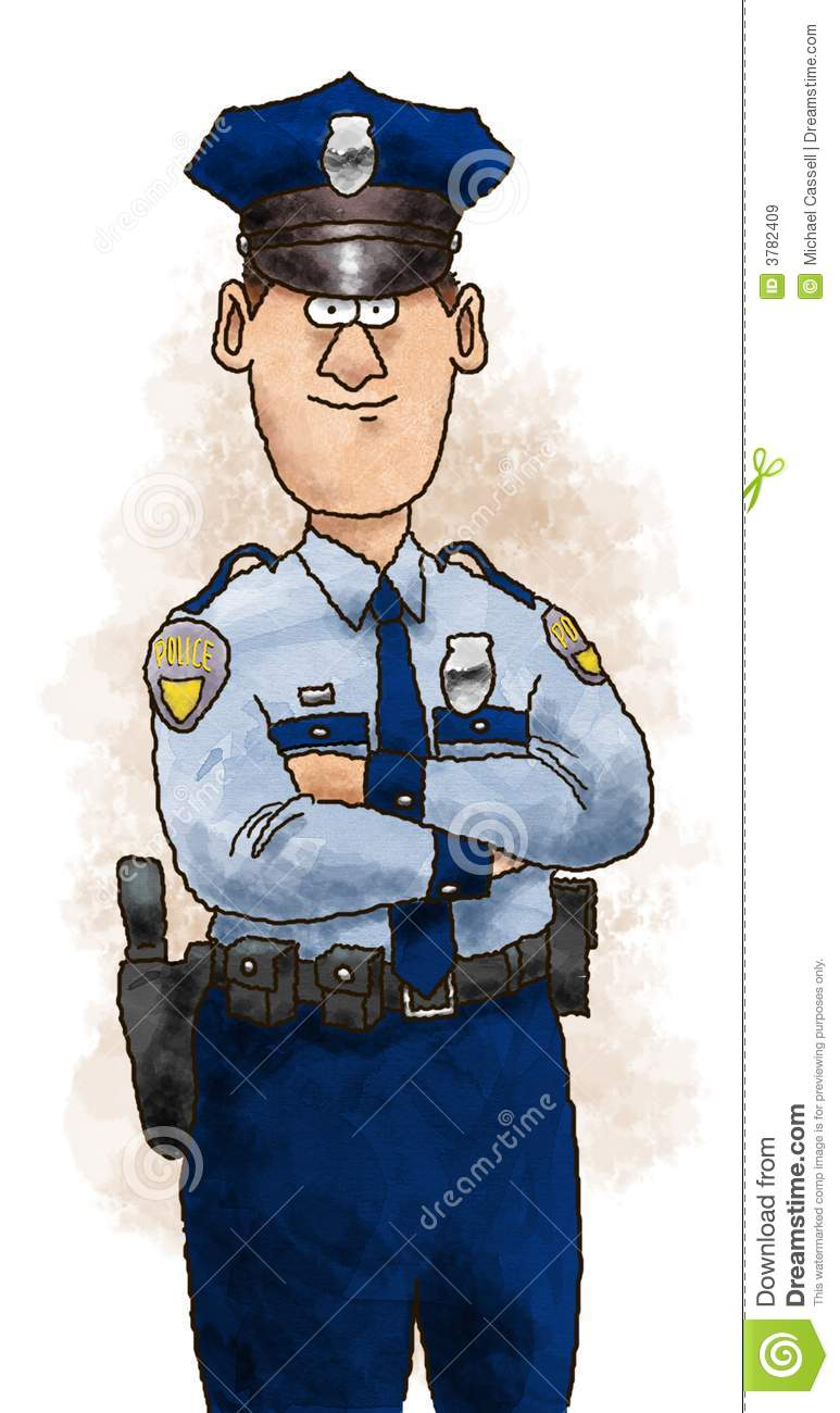 Police Officer stock illustration. Illustration of work ...