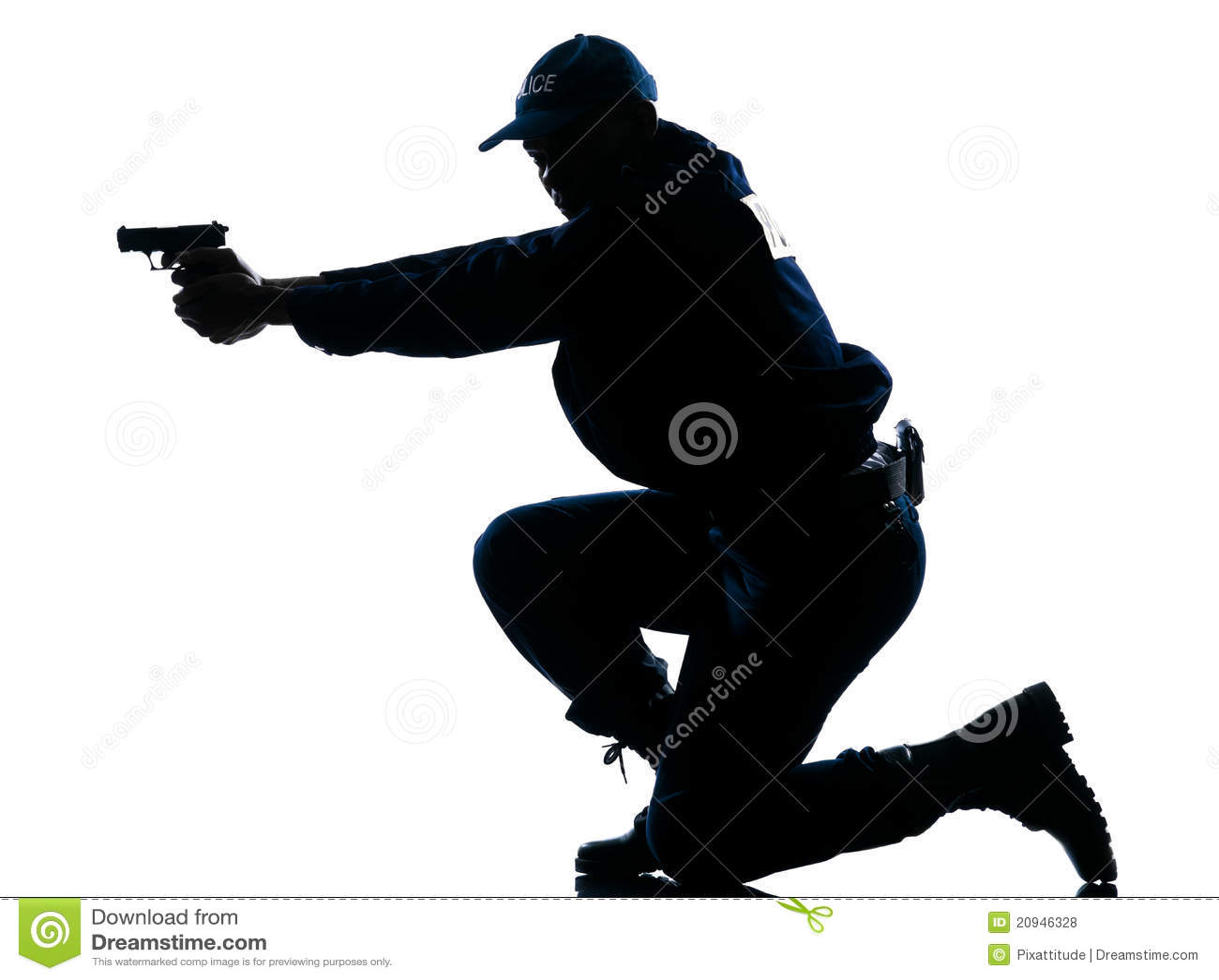 Police Officer Aiming Gun Royalty - 69.8KB