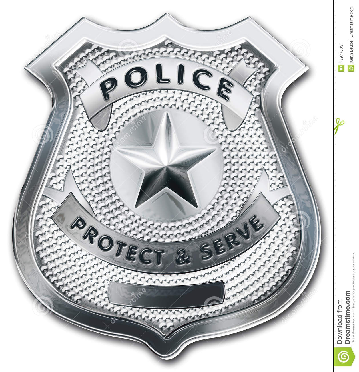 Police Officer Badge Stock Photos Image 13977603