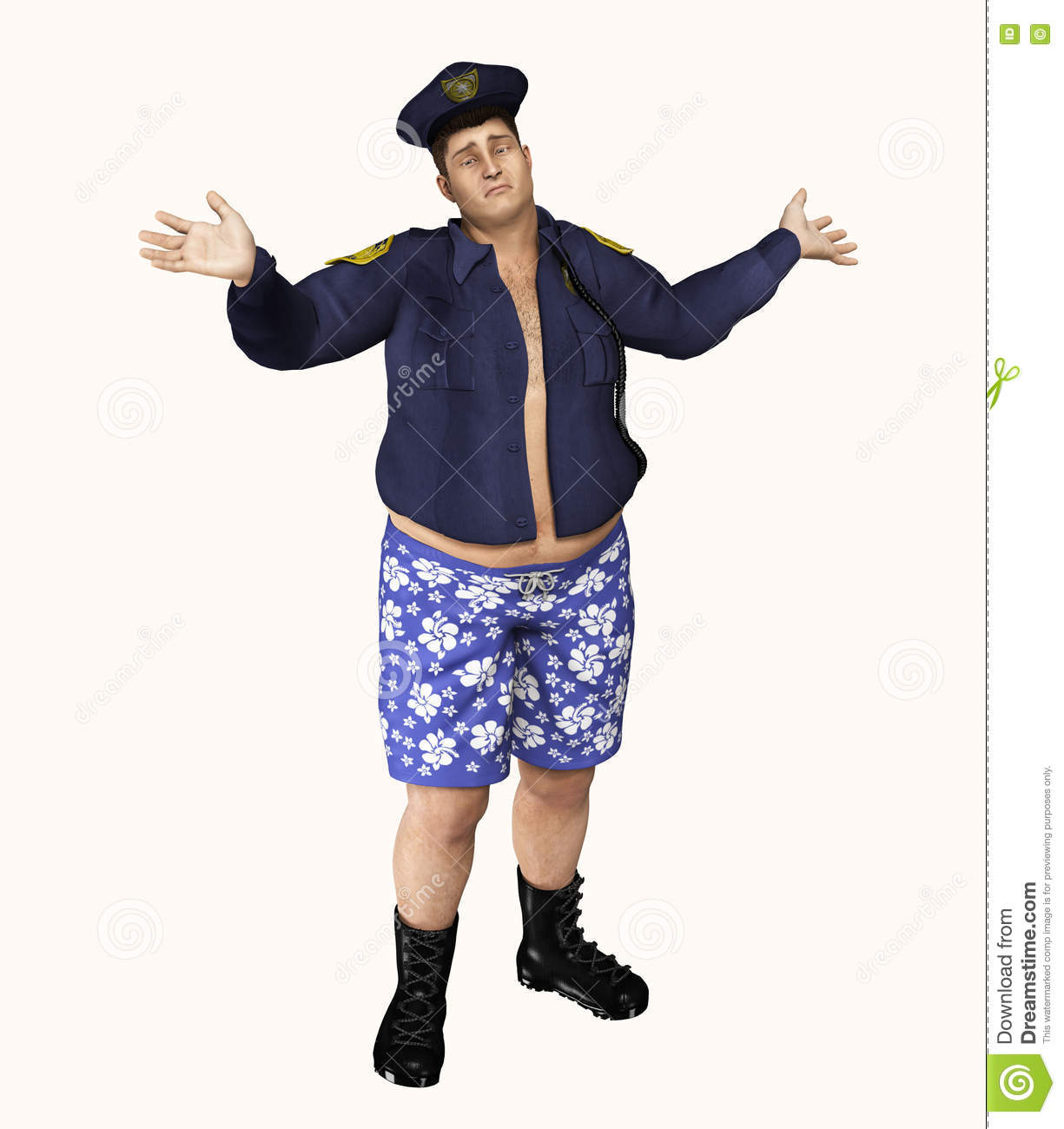 Police Officer Caught With Pants Off