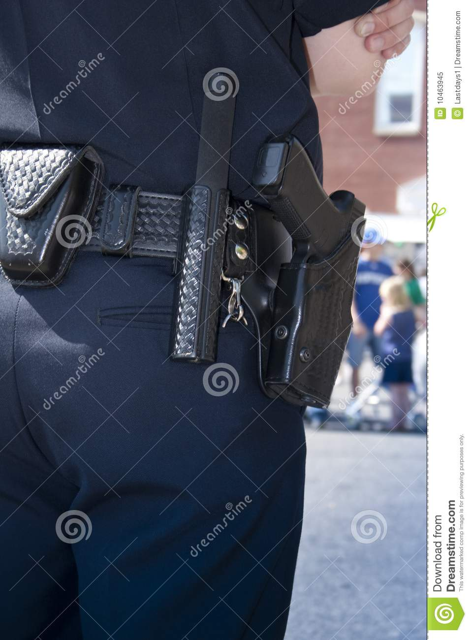 Police Officer Protecting