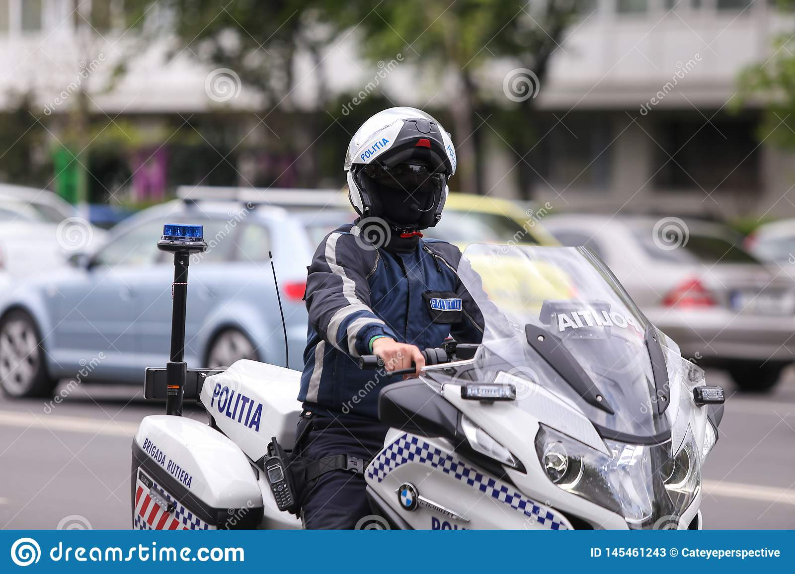 Police Officer Riding A Bmw Motorcycle In The Bucharest City Traffic Editorial Stock Photo Image Of Cabin Balaclava 145461243