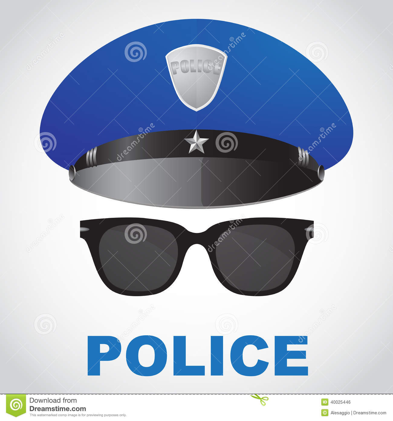 Police Officer Hat Clip Art