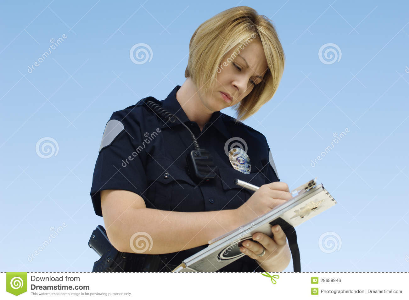 how to write a police ticket