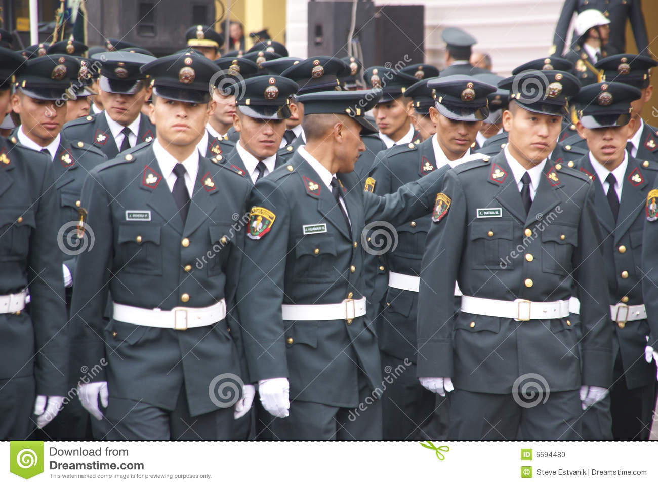 Police Officers Marching In Parade Editorial Image Image