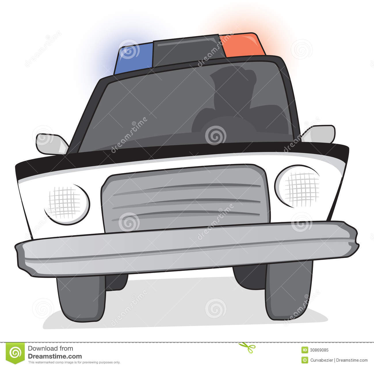 Police Patrol At A Chase Royalty Free Stock Photo