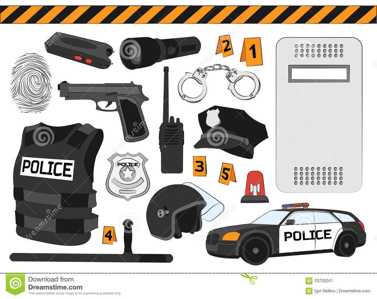 Police Concept Detailed Illustration Of Swat Officer