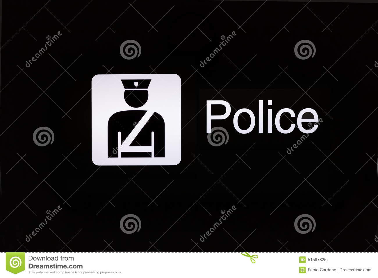 Police Sign Stock Image Image Of Police Iconic Justice 51597825