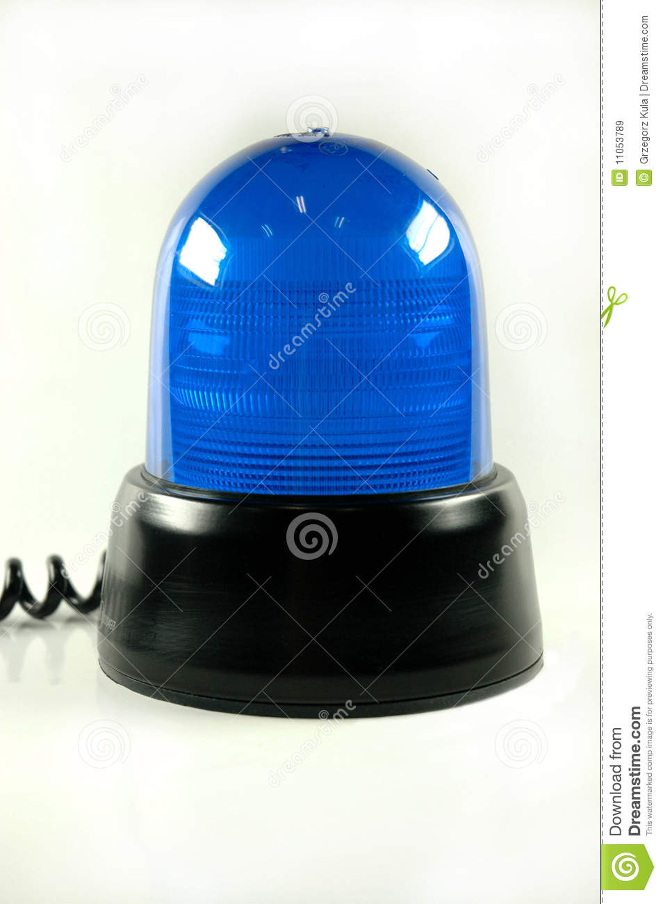 One Blue Police Siren Light With Wire