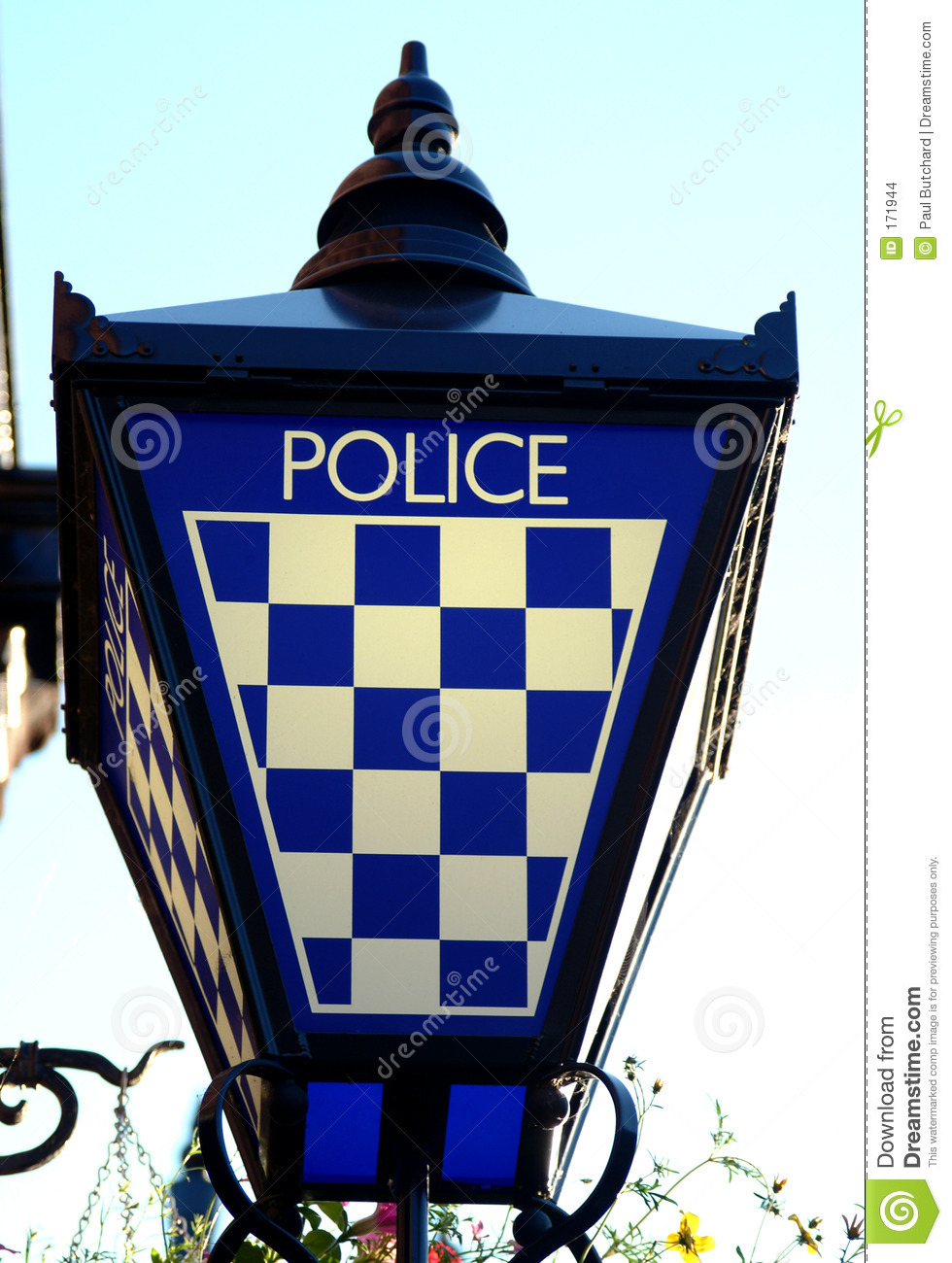 Police Station Lamp Sign, Scotland