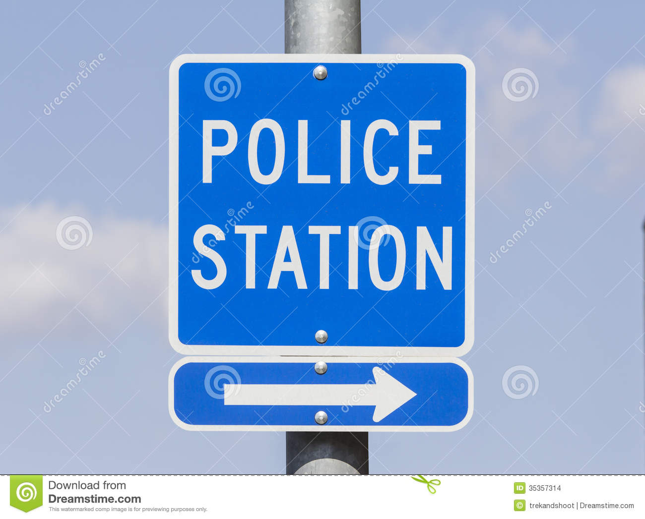 police station sign stock images image 35357314