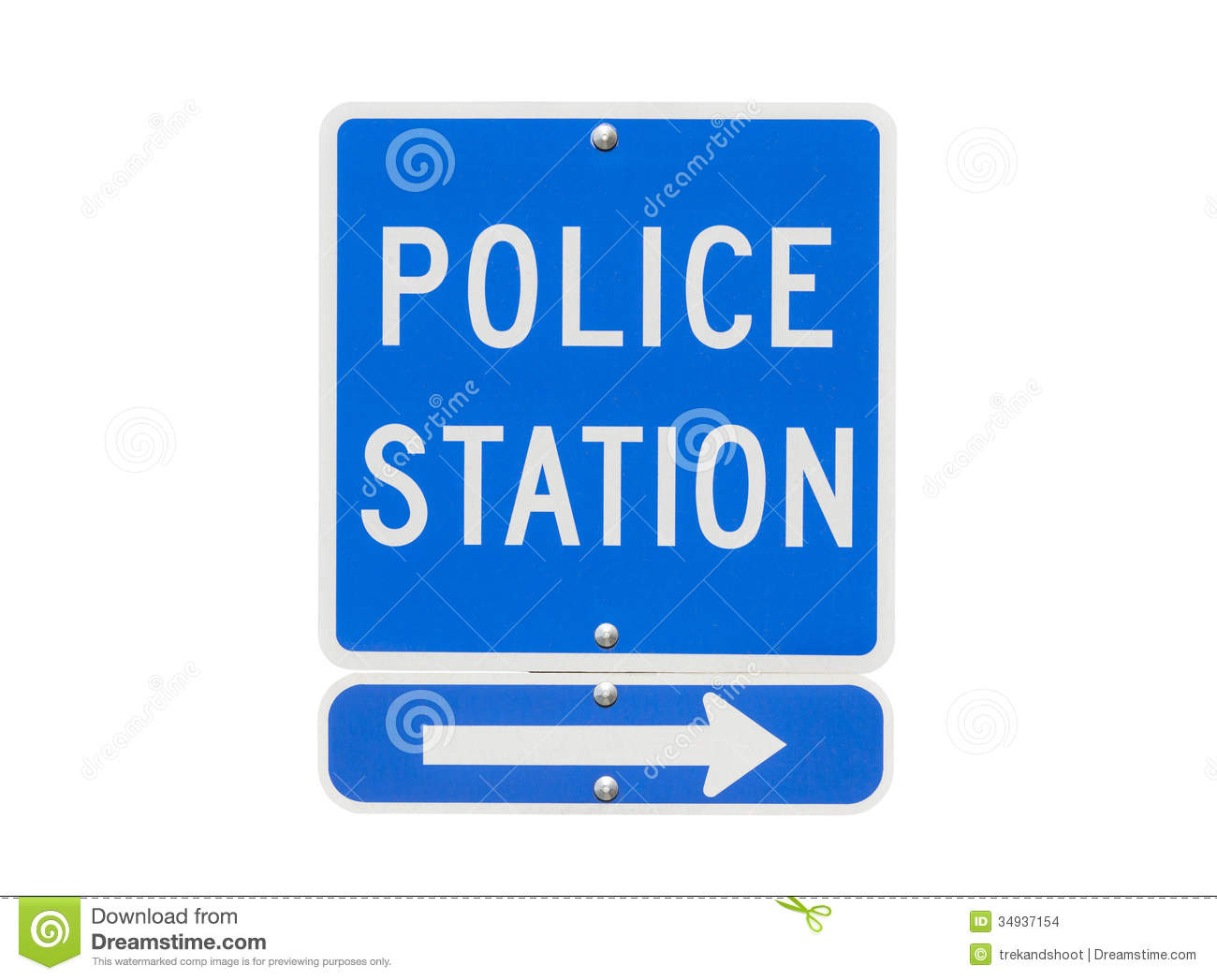 Police Station Sign Isolated Stock Images - Image: 34937154